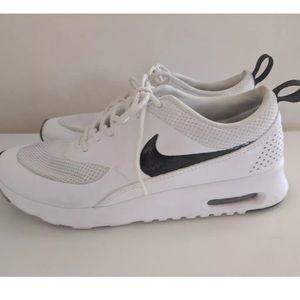 Nike Shoes | Air Max Thea White Black Sneakers | Poshmark